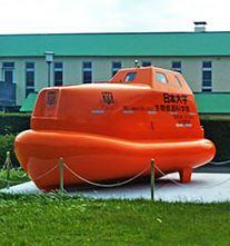 下田臨海実験所に津波避難用救命艇シェルター設置