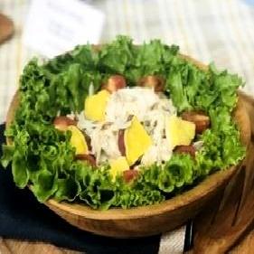 食品ビジネス学科の学生が考案したレシピが披露されました