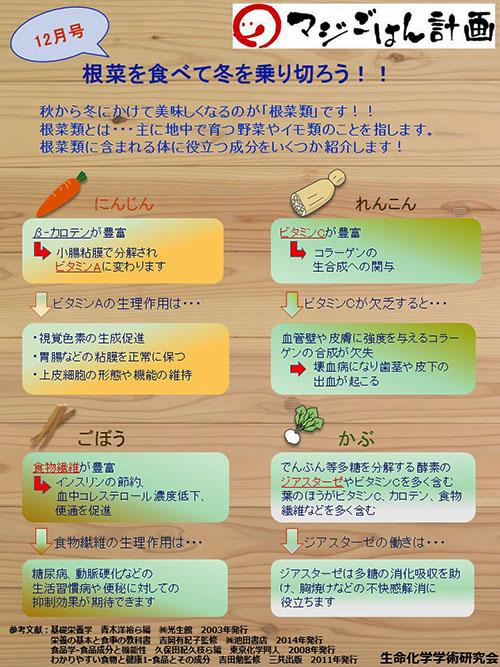 根菜を食べて冬を乗り切ろう!!
